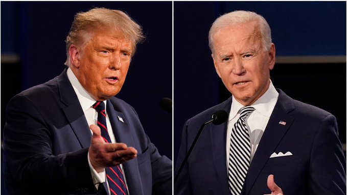 Donald Trump y Joe Biden en tercer debate