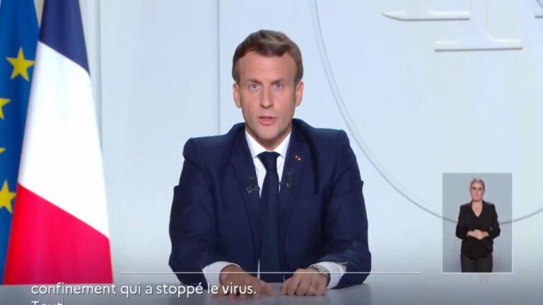 video-emmanuel-macron-confinamiento-covid